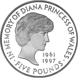 Image of Princess Diana 5 Pound Coin
