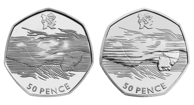 Comparison of Swimming 50p with and without waves over face