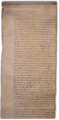 Image of 1689 English Bill of Rights
