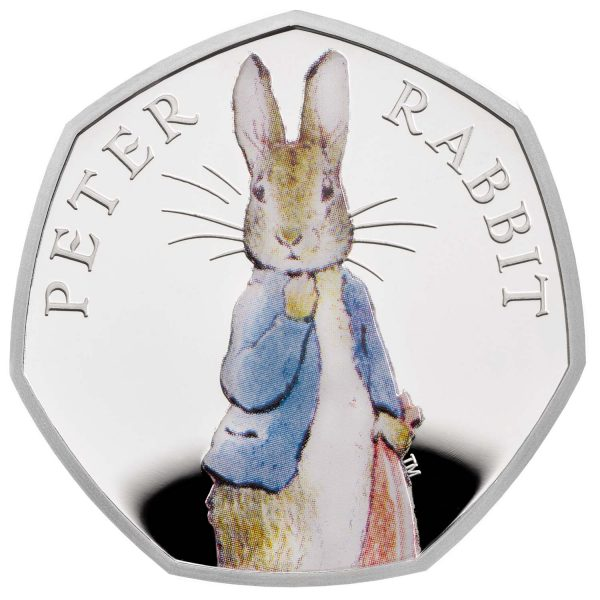 Image of 2019 Peter Rabbit 50p Silver Proof coin