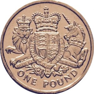Image of Lion and Unicorn 1 pound coin