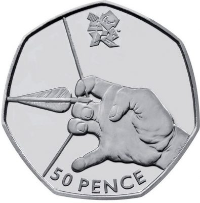 Image of Archery 50p coin