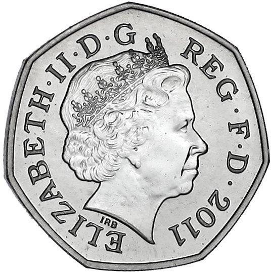 Badminton 2011 50p coin