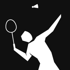 Pictogram of Badminton for the 2012 London Olympics