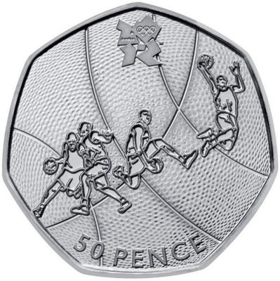Image of Basketball 50p coin