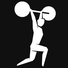 Pictogram of Weightlifting for the 2012 London Olympics